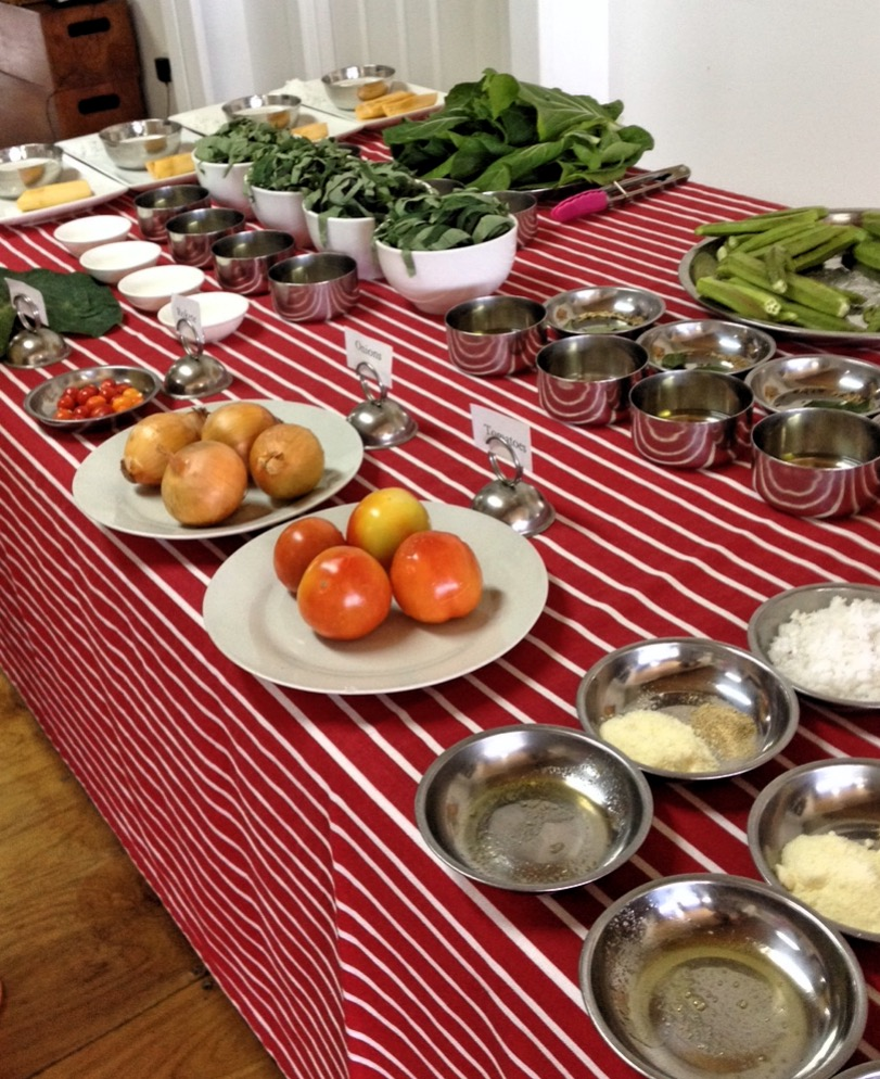 The amazing array of produce we cooked with at the Flavours of Fiji cooking school.